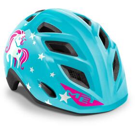 MET Elfo Helmet Kids blue unicorn glossy